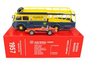 【送料無料】模型車 モデルカー スポーツカーフィアットマセラティマセラティグランプリドイツセットtransporter set fiat 642rn bartoletti maserati 250f gp germany 1957 143 ts03