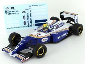 【送料無料】模型車 モデルカー スポーツカーウィリアムズルノーアイルトンセナデカールwilliams renault fw16 ayrton senna 1994 118 with decals included