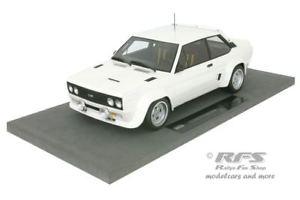 【送料無料】模型車 モデルカー スポーツカーフィアットアバルトホワイトラリーレーストップマルケスfiat 131 abarth white rally wm ready to race rhrl alen 118 top marques