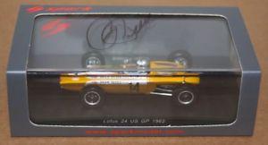 【送料無料】模型車 モデルカー スポーツカースパークロジャーペンスキーロータスアメリカグランプリフォーミュラspark roger penske signed lotus 24 us gp 1962 formula 1 f1 143 resin car