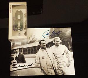 【送料無料】模型車 モデルカー スポーツカーシェルビーデイトナクーペモデルモンツァsigned shelby daytona coupe model amp; photo of 1965 monza by bondurant amp; grant