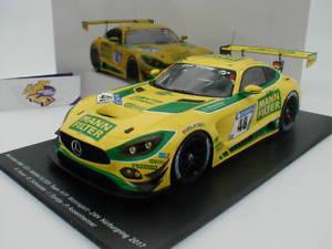 【送料無料】模型車 モデルカー スポーツカースパークシングルメルセデスグアテマラニュルブルクリンクマンフィルターspark 18sg021 mercedes amg gt3 24h nrburgring 2017 48 mann filter 118