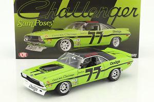 【送料無料】模型車 モデルカー スポーツカーダッジチャレンジャー#トランスdodge challenger 77 trans am 1970 sam posey 118 gmp