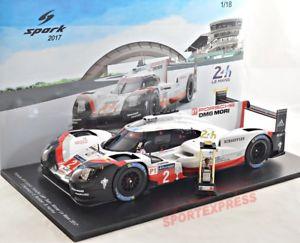【送料無料】模型車 モデルカー スポーツカースパークポルシェハイブリッドルマン# 118 spark 18lm17 porsche 919 hybrid, winner 24hrs lemans 2017 2