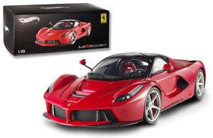 【送料無料】模型車 モデルカー スポーツカーホットホイールエリートフェラーリレッド118 hot wheels elite ferrari laferrari 2013 red bct79