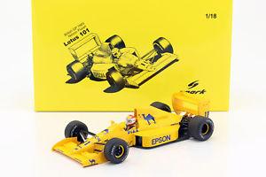 【送料無料】模型車 モデルカー スポーツカーネルソンピケロータス#nelson piquet lotus 101 11 reino unido gp frmula 1 1989 118 spark