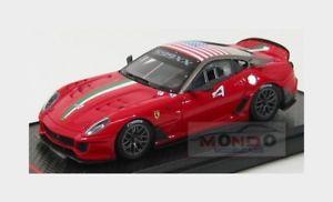 【送料無料】模型車 モデルカー スポーツカーフェラーリ#ホームステッドマイアミレッドマットグレーモデルferrari 599xx 4 homestead miami 2010 red matt grey met bbr 143 bbrc42a model