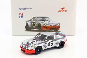 【送料無料】模型車 モデルカー スポーツカーポルシェカレラ#マルティニレーシングルマンporsche 911 carrera rsr 46 martini racing 4th 24 h lemans 1973 118 spark