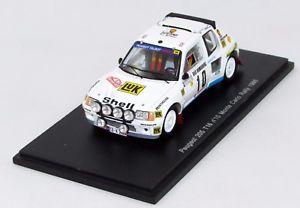 【送料無料】模型車 モデルカー スポーツカープジョー#モンテカルロラリースパークpeugeot 205 t16 10 monte carlo rally 1986 ns1287 143 spark