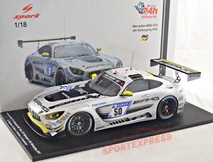 【送料無料】模型車 モデルカー スポーツカースパークシングルメルセデスニュルブルクリンク# 118 spark 18sg022 mercedes amg gt3 24hrs nrburgring 2017, 50