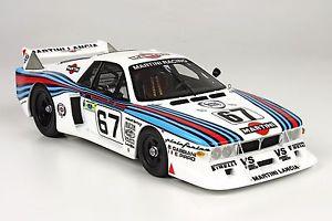 【送料無料】模型車 モデルカー スポーツカートップマルケスランチアベータモンテカルロターボ#マルティニルマンtop marques lancia beta montecarlo turbo 67 martini le mans 1981 118
