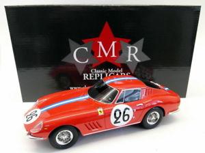 【送料無料】模型車 モデルカー スポーツカースケールフェラーリ#ルマンcmr 118 scale resin 037 ferrari 275 gtb 26 le mans 1966 biscaldi parme