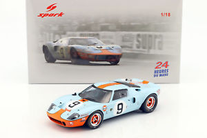 【送料無料】模型車 モデルカー スポーツカーフォード#ルマンロドリゲスford gt 40 mk i 9 winner 24h lemans 1968 rodriguezwhite 118 spark