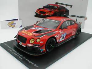 【送料無料】模型車 モデルカー スポーツカースパークシングルベントレーコンチネンタルグアテマラニュルブルクリンクアプトspark 18sg019bentley continental gt3 r 24h nrburgring 2017 36 abt 118