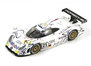 【送料無料】模型車 モデルカー スポーツカーポルシェルマンporsche 911 gt1 number 25 2nd du mans 1998