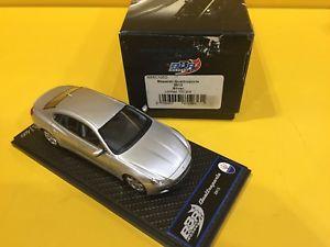 【送料無料】模型車 モデルカー スポーツカーモデルマセラティマセラティクアトロポルテシルバーbbr models bbr105dmaserati quattroporte 2013 silver