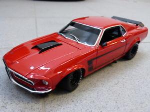 【送料無料】模型車 モデルカー スポーツカーボストランスムスタングアランモファットフォードモデル1969 boss 302 trans am mustang allan mat ford acme red car model 118