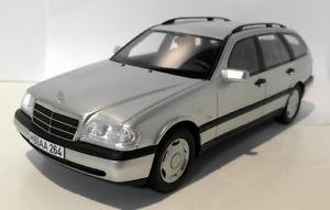 【送料無料】模型車 モデルカー スポーツカーボススケールメルセデスベンツシルバーエステートbos 118 scale resin 193257 mercedes benz c200 t s202 estate in silver