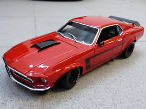 【送料無料】模型車 モデルカー スポーツカーボストランスムスタングアランモファットレッドフォードモデルカー1969 boss 302 trans am mustang allan mat red ford acme model car 118