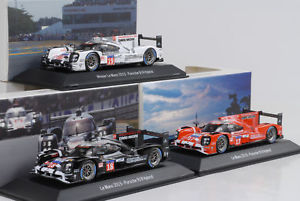 【送料無料】模型車 モデルカー スポーツカーポルシェハイブリッド###ルマンセット2015 porsche hybrid 919 17 18 19 winner set 24 h le mans 143 spark
