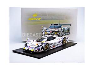 【送料無料】模型車 モデルカー スポーツカースパークポルシェルマンspark 118 porsche 911 gt1 le mans 1998 18s121