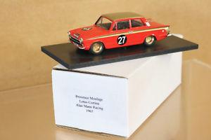 【送料無料】模型車 モデルカー スポーツカームラージュロータスコルチナアランマンカレーラスprovenza moulage 1965 lotus cortina coche 27 alan mann carreras whitmoor 1st nj
