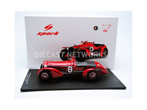 【送料無料】模型車 モデルカー スポーツカースパークアルファロメオルマンspark 118 alfaromeo 8c winner le mans 1932 18lm32
