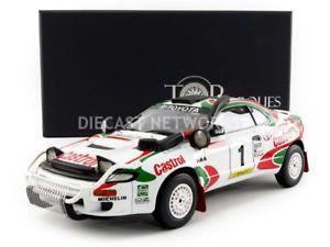 【送料無料】模型車 モデルカー スポーツカートップマルケストヨタセリカラリーtop marques collectibles 118 toyota celica gt4 winner rally safary 1993