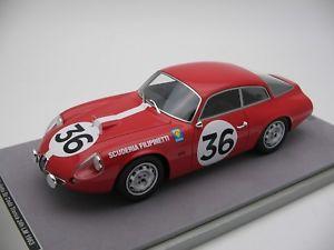 【送料無料】模型車 モデルカー スポーツカースケールアルファロメオキュールマン118 scale tecnomodel alfa romeo sz queue truncate le mans 24h 1963tm1871d