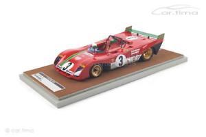 【送料無料】模型車 モデルカー スポーツカーフェラーリタルガフローリオテクノferrari 312 pbwinner targa florio 1972 merzariomunari 1 of 100tecno