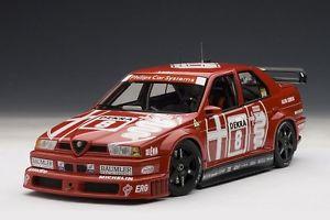 【送料無料】模型車 モデルカー スポーツカーアルファロメオ#ゾルダーalfa romeo 155 v6 ti 4x4 dtm 1993 larini 8 zolder winner spreis autoart 118