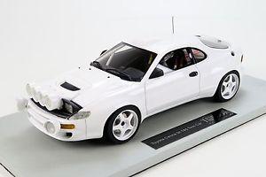 【送料無料】模型車 モデルカー スポーツカートヨタセリカターボラリーテストトップマルケスtoyota celica 4wd turbo rally 1993 test plainbody white w bbr top marques 118