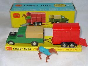 【送料無料】模型車 モデルカー スポーツカーポニートレーラーローバーcorgi giftset gs 2 land rover with rice pony trailer and horse