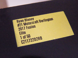 【送料無料】模型車 モデルカー スポーツカーエリートライアン#ブロフォードフュージョン2017 elite ryan blaney 21 darlington motorcraft wood bro ford fusion 124 bnmib
