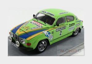 送料無料 模型車 モデルカー スポーツカー#スウェーデンラリーsaab 96 v4 2 winner rally sweden 1976 blomqvist sylvan tecnomodel 118 tm1880e