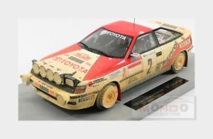 【送料無料】模型車 モデルカー スポーツカートヨタセリカラリーモンテカルロトップtoyota celica st165 winner rally montecarlo 1991 sainz topmarques 118 top044ad
