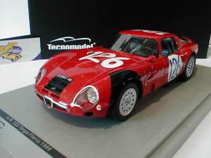 【送料無料】模型車 モデルカー スポーツカーアルファロメオタルガフローリオピント#tecnomodel tm1865c alfa romeo tz2 126 targa florio 1966 034;pinto034; 118