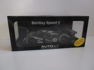 【送料無料】模型車 モデルカー スポーツカーベントレールマンブラバムブランデルcoa signed autoart bentley speed 8 le mans 2003 brabham blundell