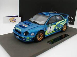 【送料無料】模型車 モデルカー スポーツカートップマルケストップラリーニュージーランドバーンズtop marques top37b subaru imprezza n5 wrc rally zealand 2001 burns 118