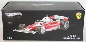 【送料無料】模型車 モデルカー スポーツカーホットホイールスケールフェラーリニキラウダモナコ#hot wheels 118 scale bly40 ferrari 312 t2 niki lauda monaco gp039;76