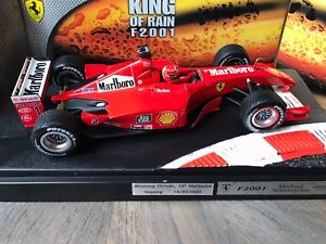 【送料無料】模型車 モデルカー スポーツカーフェラーリマルボロ#シューマッハキングボックスf1 ferrari f2001 034;marlboro034; ltd king of the rain, schumacher, 118 with box