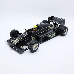 【送料無料】模型車 モデルカー スポーツカーロータスルノーポルトガルグランプリアイルトンセナsenr18001 118 lotus renault 97t portuguese gp 1985 ayrton senna first win in f1