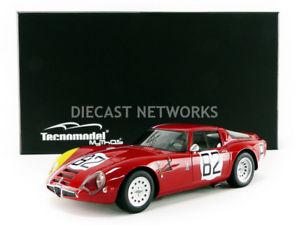 【送料無料】模型車 モデルカー スポーツカーミトスアルファロミオキロニュルブルクリンクtecnomodel mythos 118 alfaromeo guilia tz2 1000 km nurburgring 1967tm
