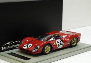 【送料無料】模型車 モデルカー スポーツカーフェラーリ#パークスデイトナtecnomodel ferrari 330 p4 24 parkesscarfiotti 2nd daytona 24h 1967 118