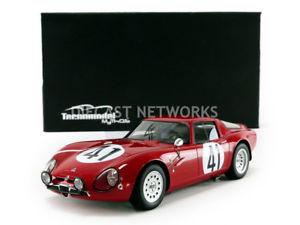 【送料無料】模型車 モデルカー スポーツカーミトスアルファロメオルマンtecnomodel mythos 118 alfa romeo guilia tz2le mans 1965tm1865b