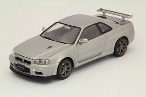 【送料無料】模型車 モデルカー スポーツカースカイラインシルバーモードjm 2135801 ebbro eb24017 nissan skyline gtr bnr34 vspecii 2001 silver 124 mode