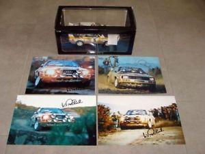 【送料無料】模型車 モデルカー スポーツカーアウディスポーツクワトロラリーポルトガル#audi sport quattro rally portugal 1985 5 walter rhrl 118 autoart rare signed