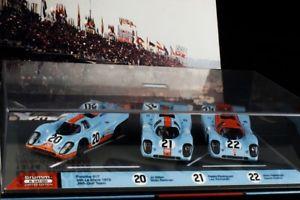 【送料無料】模型車 モデルカー スポーツカーポルシェセットbrumm 3 x porsche set 917 limited 143 very rare