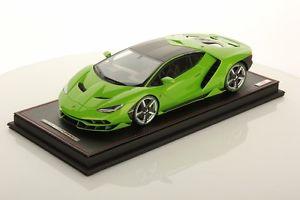 【送料無料】模型車 モデルカー スポーツカーコレクションランボルギーニショーケースmr collection lamborghini centenary green manthis with showcase 118