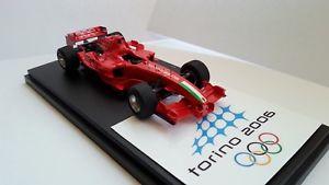 【送料無料】模型車 モデルカー スポーツカーフェラーリトリノモデルスケールferrari f2005 torino winter olympics rare handbuilt tameo model 143 scale